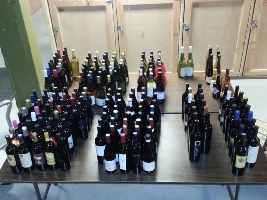 wine bottles in the cellar