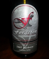 Review: Forgeron Cellars 2007 Barbera